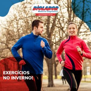 Temperaturas baixas não devem desestimular a rotina de exercícios físicos