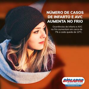 Número de casos de infarto e AVC aumenta no frio